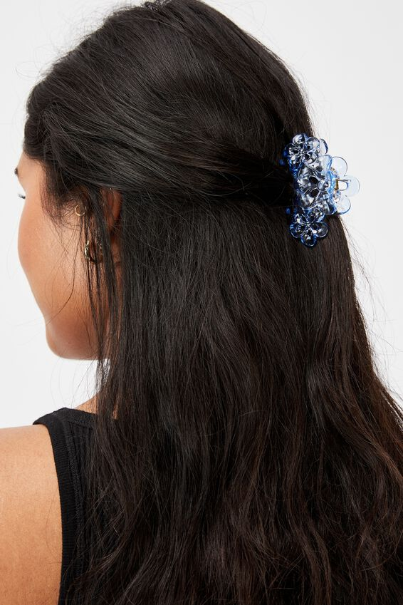 Phoebe Hair Claw, AUTHENTIC BLUE