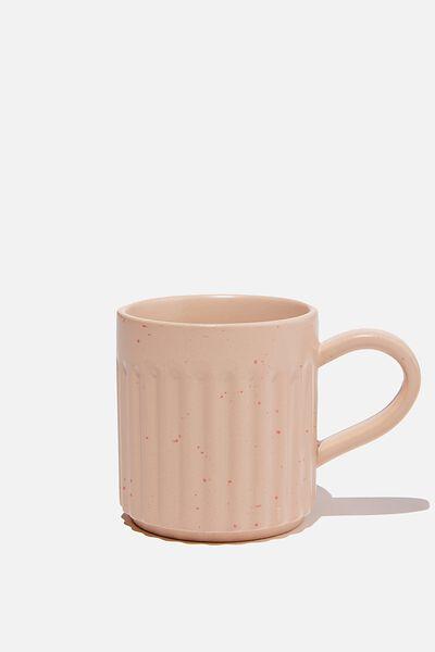 Etched Mug, NATURAL SPECKLE