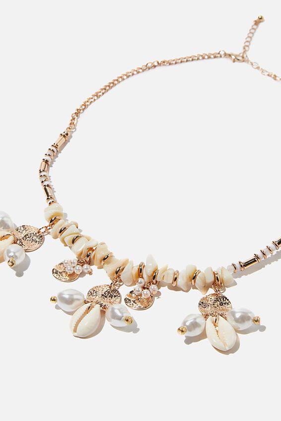 Bondi Summer Necklace, GOLD/NATURAL
