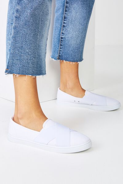 Aurora Slip On, WHITE MONO
