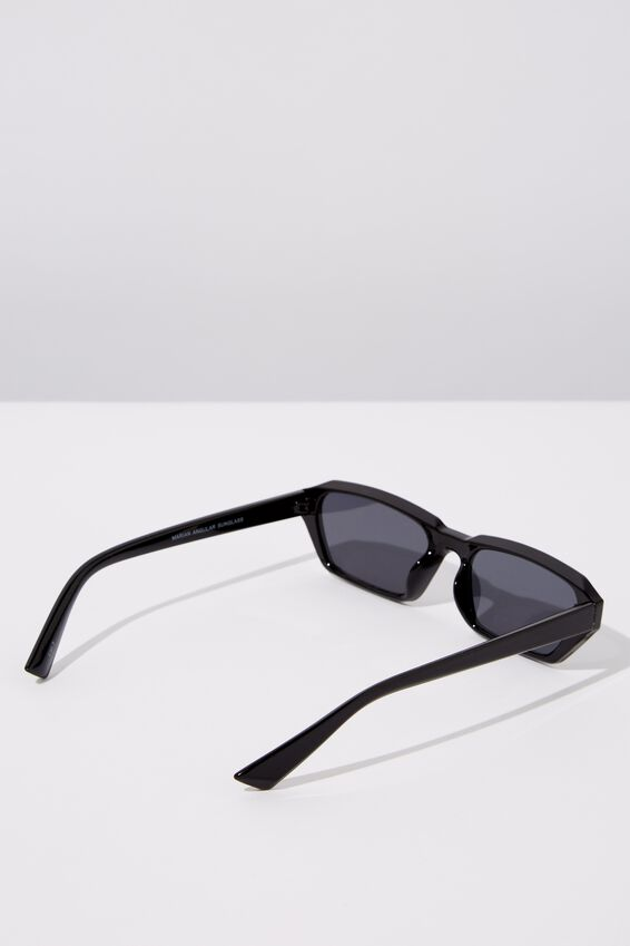 Marian Angular Sunglasses, BLACK