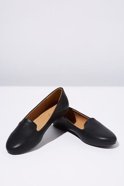 Sophia Slipper, BLACK PU