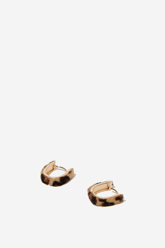 Kimberly Animal Earring, LEOPARD/GOLD