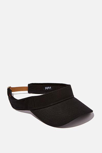 Zoey Visor Hat, BLACK