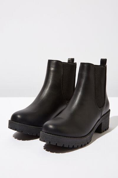 Kenickie Ankle Boot, BLACK