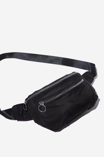 Geo Belt Bag, BLACK