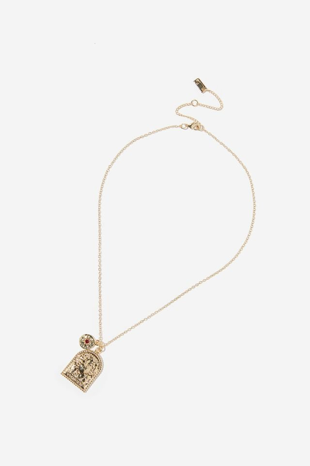 Premium Zodiac Necklace, GOLD PLATED CANCER