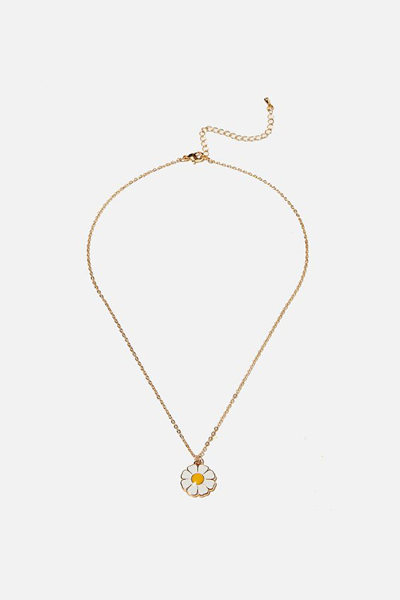 Brighter Days Pendant Necklace, ENAMEL DAISY