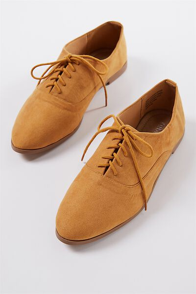 Claudia Soft Lace Up, MUSTARD MICRO