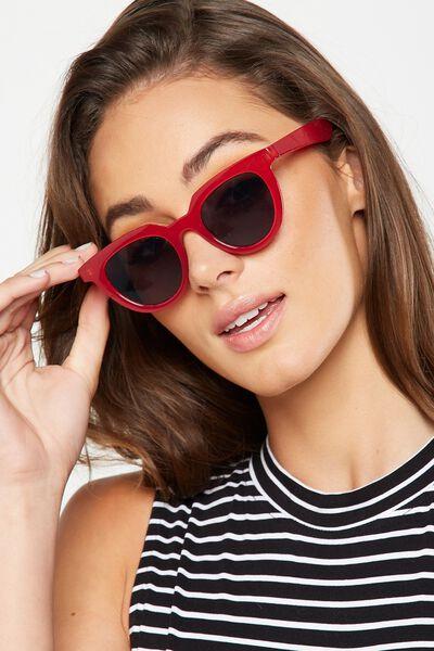 Portia Preppy Sunglasses, RED