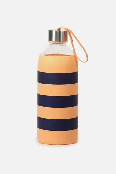 1L Hydrator Waterbottle, PEACH/NAVY STRIPE