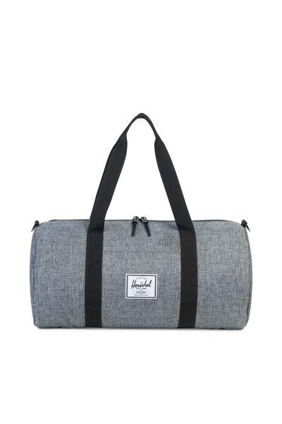 Herschel Sutton Mid-Volume Duffle Bag, RAVEN CROSSHATCH/BLACK