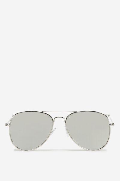 Arabella Metal Sunglasses, SILVER/SILVER