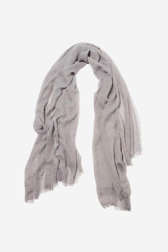 Winter Weave Scarf, GREY MARLE