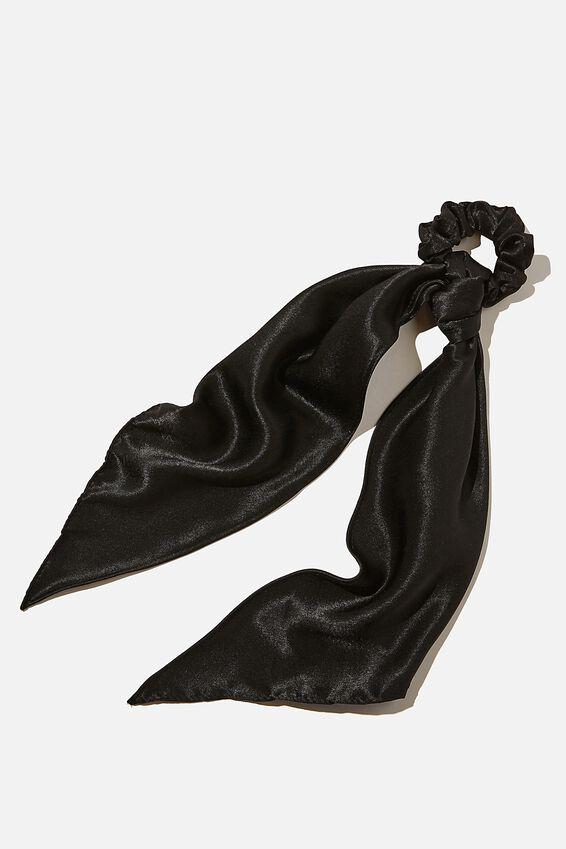 New York Convertible Scrunchie, BLACK