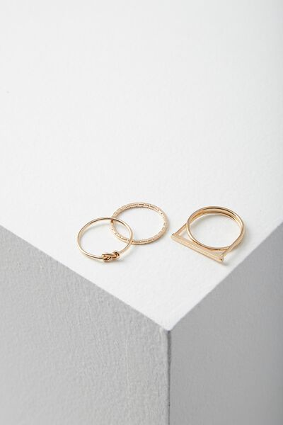 Harper Ring Set, GOLD