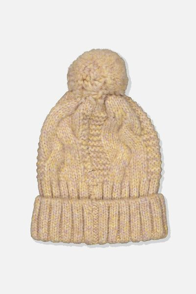 Hooked On You Cable Beanie, BLUSH MIX