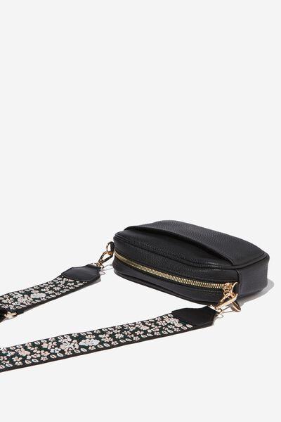 Webbing Tape Long Bag Strap, FLORAL