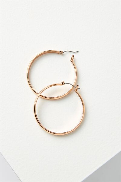Sherry Core Hoop Statement Earring, ROSE GOLD