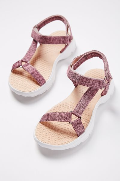 Ella Strappy Sandal, PINK