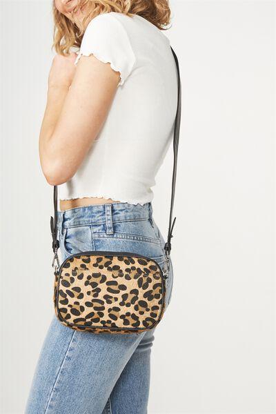 Luxe Cross  Body Bag, FAUX LEOPARD