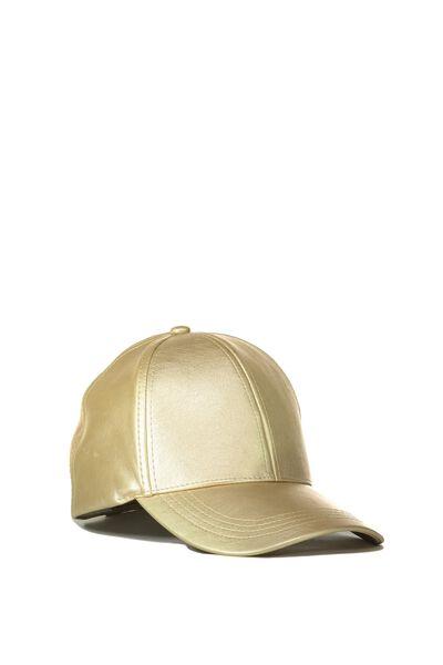 Nancy Cap, GOLD PU