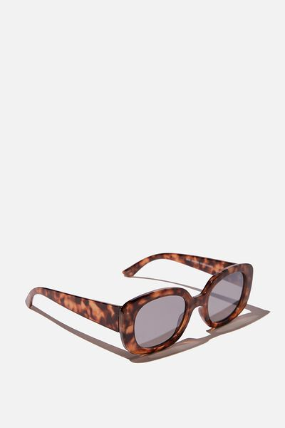 Jade Square Sunglasses, TORT