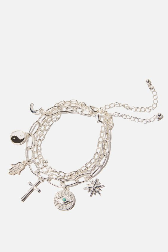 Holiday Luxe Bracelet Pack, GOODLUCK CHARMS SILVER
