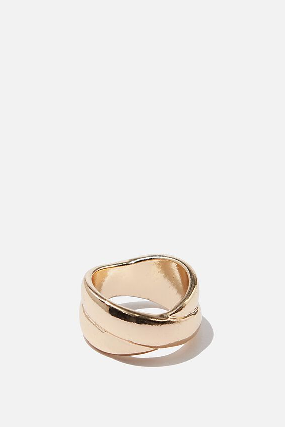 Luxe Layers Kissing Ring, GOLD