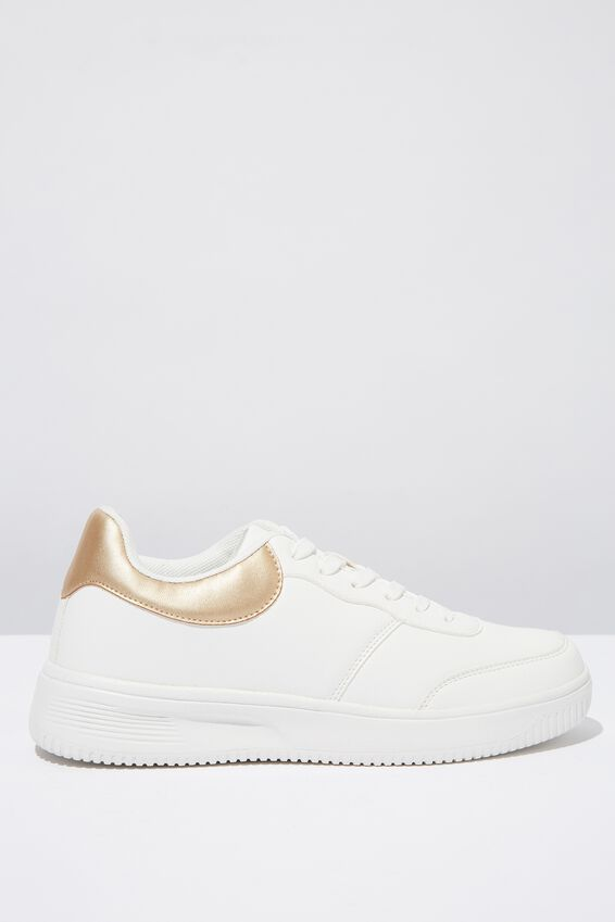 Alice Low Rise Sneaker, GOLD WHITE
