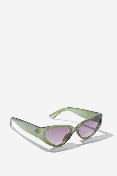 Molly Cateye Sunglasses, BOTTLE GREEN