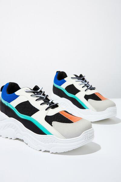 Blaze Chunky Sneaker, BLUE GREEN MULTI