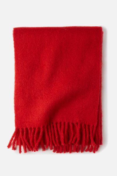 Lulu Tassel Scarf, FIREY RED