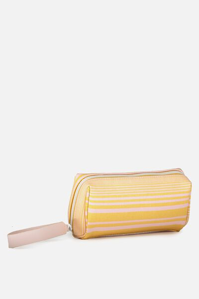Day To Day Cosmetic Case, MUSTARD STRIPE