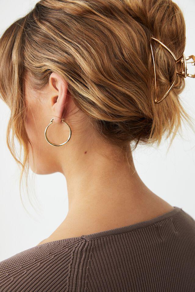 Metal Ashley Hair Claw, GOLD