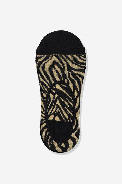 Invisible Sock, TAN LINEY ZEBRA
