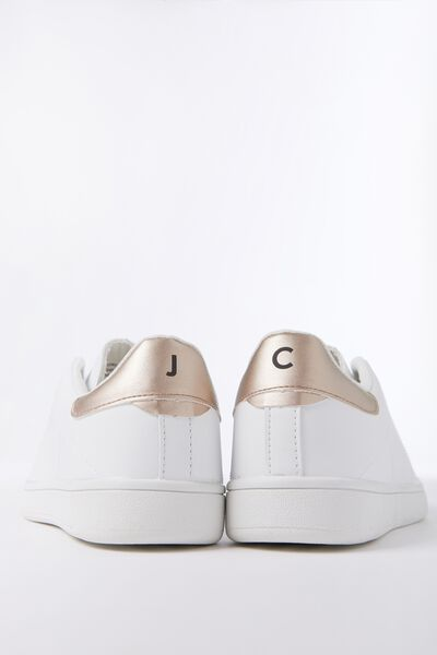 Personalised Cathryn Sneaker, WHITE/GOLD