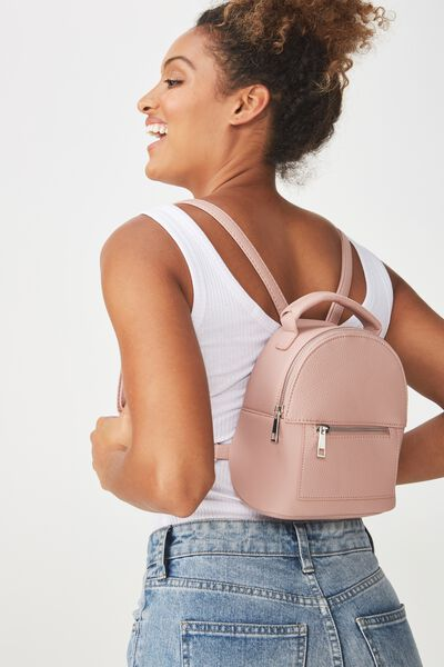 Cara Mini Backpack, BLUSH PEBBLE