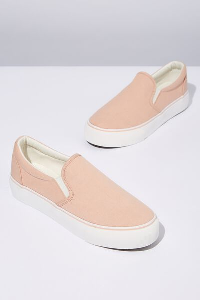 Jessie Platform Slip On, DARK BLUSH CANVAS