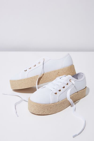 Willow Espadrille Sneaker, WHITE TWILL
