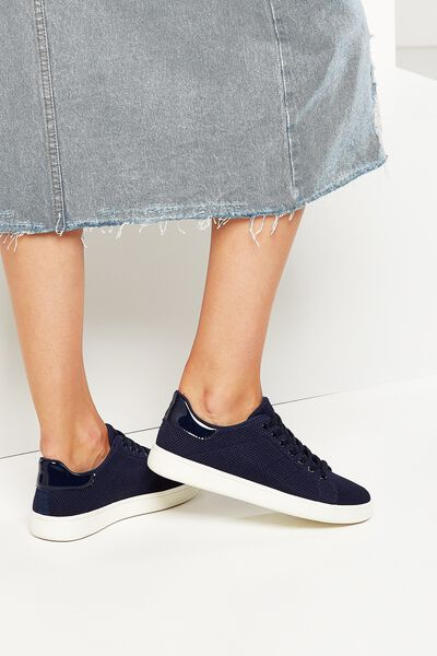 Cathryn Knit Sneaker, NAVY MESH