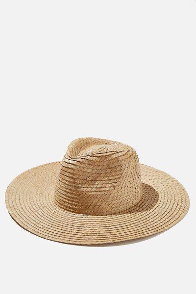 Sharni Straw Panama, NATURAL