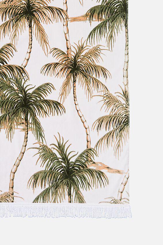 Bondi Rectangle Towel, PALMS