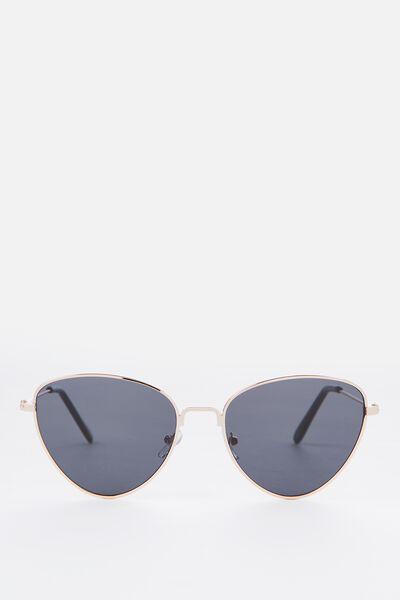 Luna Metal Sunglasses, S.GOLD