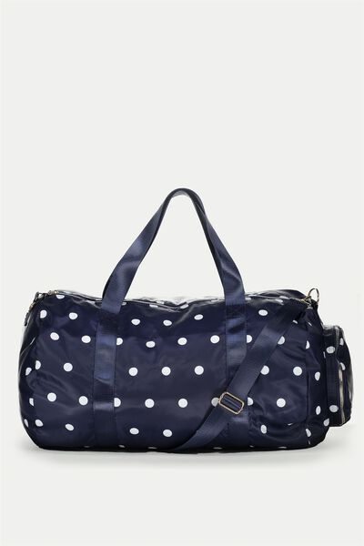 Athens Foldable Duffle Bag, NAVY SPOT