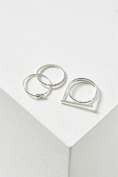 Harper Ring Set, SILVER