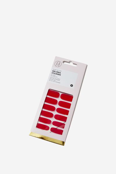 Gel Sticker Nails, RED