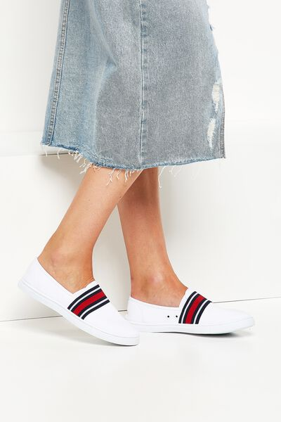 Harlow Slip On, WHITE/NAUTICAL STRIPE