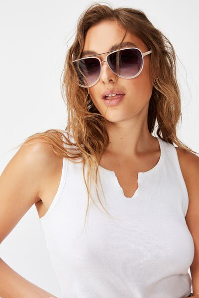 Pip Aviator Sunglasses, SOFT ROSE GOLD