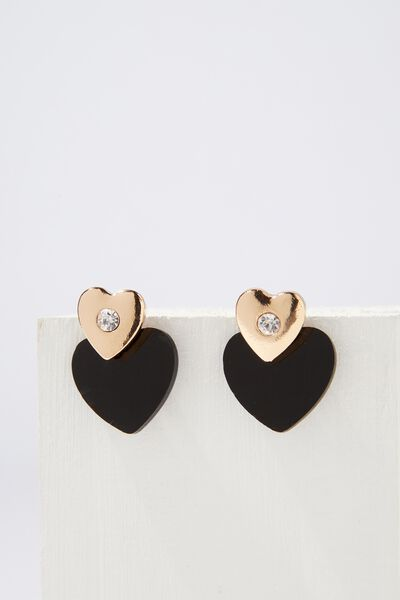 Ziggy Romance Earring, BLACK